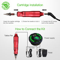 Tattoo Rotary Machine Pen Style Set Tattoo Kit LCD Power Pedal Tattoo Supply Free Delivery Permanent Makeup Machine Assortment - The most popular products on Tiktok | GOWOW