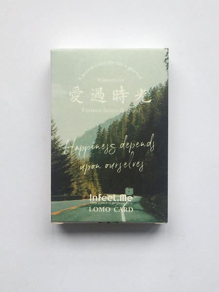 Time landscape paper greeting card lomo card(1pack=28pieces) - The most popular products on Tiktok | GOWOW