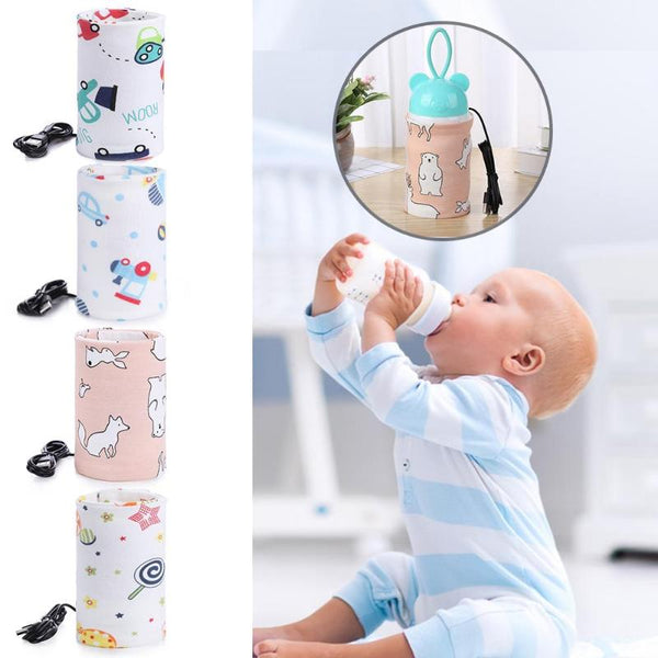 USB Milk Water Warmer Travel Stroller Insulated Bag Baby Nursing Bottle Heater Newborn Infant Portable Bottle Feeding Warmers - The most popular products on Tiktok | GOWOW