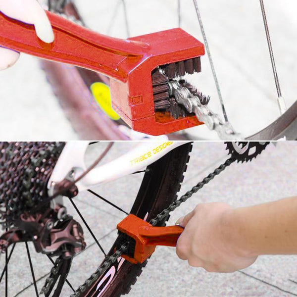 Universal Car Accessories Rim Care Tire Cleaning Red Motorcycle Bicycle Gear Chain Maintenance Cleaner Dirt Brush Cleaning Tools - The most popular products on Tiktok | GOWOW