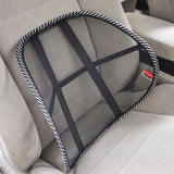 Universal Car Back Support Chair Massage Lumbar Support Waist Cushion Mesh Ventilate Cushion Pad For Car Office Home - The most popular products on Tiktok | GOWOW