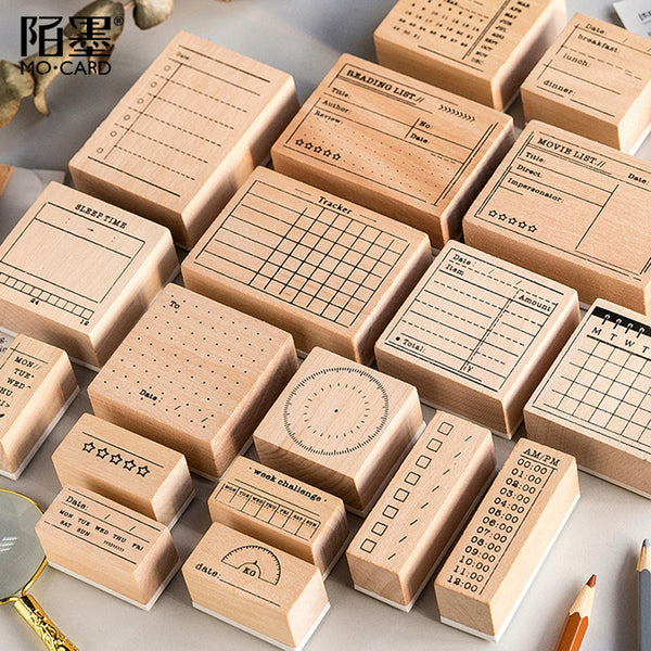 Vintage record memo List time Planner stamp DIY wooden rubber stamps for scrapbooking stationery scrapbooking standard stamp - The most popular products on Tiktok | GOWOW