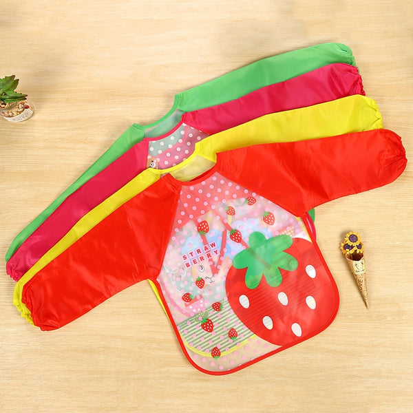 Waterproof Baby Infant  Full Sleeve Bibs Cute Cartoon Animals Children Long Sleeve Apron Coverall Feeding Bibs - The most popular products on Tiktok | GOWOW