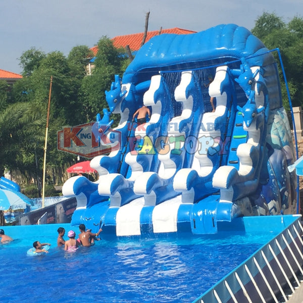 Wear-resistant PVC inflatable water slide China's 19-year professional manufacturing inflatable water park - The most popular products on Tiktok | GOWOW