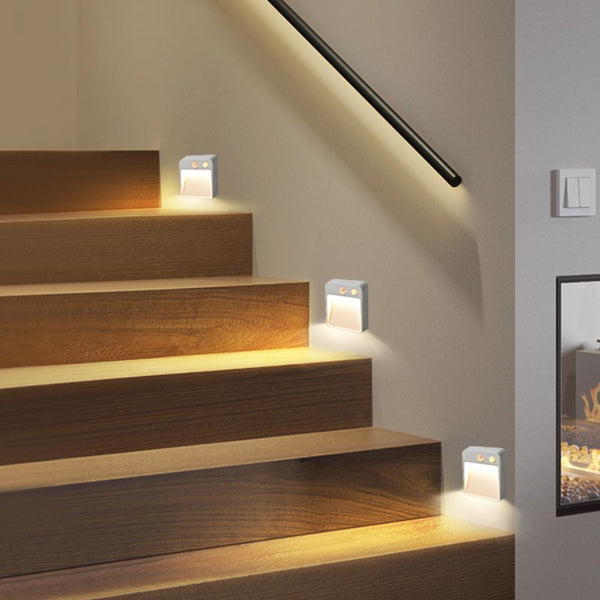 Wireless Detector LED Light Cabinet Wall Lamp Dual Induction PIR Infrared Motion Sensor Lamp Auto On/Off Stairs Step Light Lamp - The most popular products on Tiktok | GOWOW
