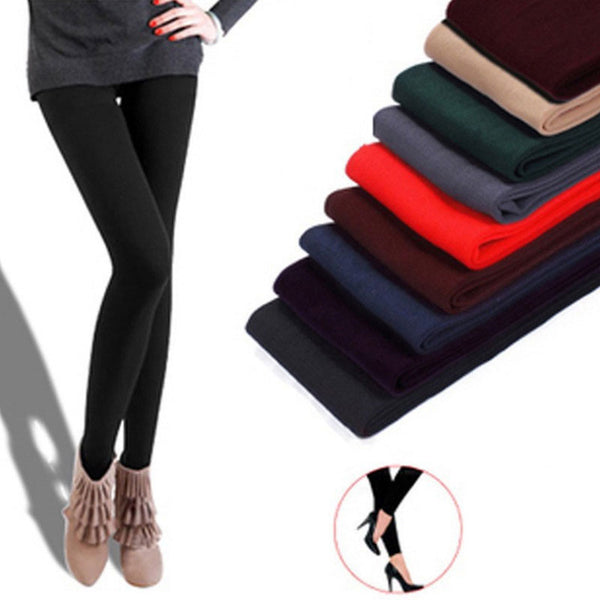 Women winter warm leggings skinny stretch fleece pants Women Casual Faux Velvet ankle-length Legging Knitted Thick Slim Leggings - The most popular products on Tiktok | GOWOW