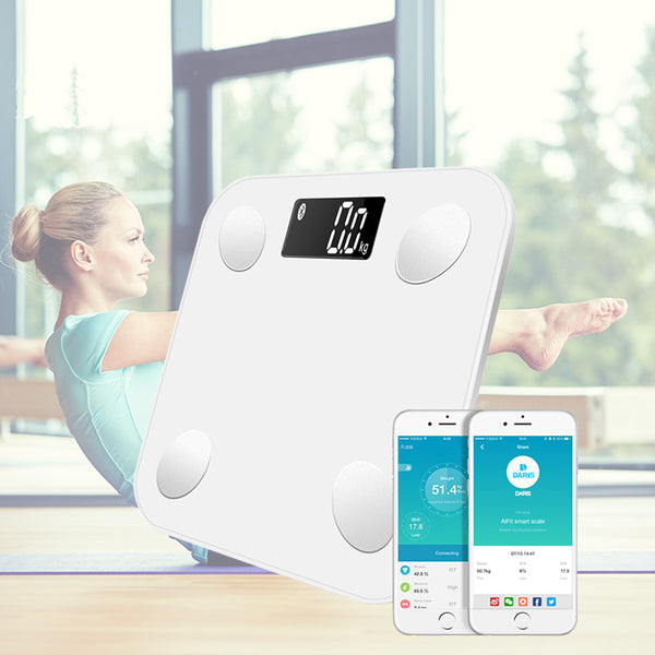 Wonderlife Super Weighing Bluetooth Scale Smart Backlit Display Scale Body Weight Body Fat Water Muscle Mass BMI - The most popular products on Tiktok | GOWOW