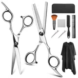YBLNTEK 9 PCS Professional Hairdressing Scissors Kit Hair Cutting Scissors Hair Scissors Tail comb Hair Cape Hair Cutter Comb - The most popular products on Tiktok | GOWOW