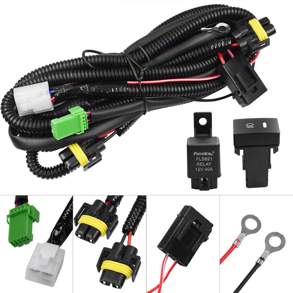 YUNPICAR H11 881 H9 Fog Light Lamp Wiring Harness Socket Wire Connector With 40A Relay & ON/OFF Switch Kits Fit LED Work Lamp - The most popular products on Tiktok | GOWOW