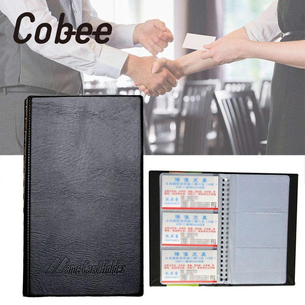 cobee Transparent business Name Card Holder Travel Book Credit Card Wallet Folder Organiser Leather Office School Supplies - The most popular products on Tiktok | GOWOW
