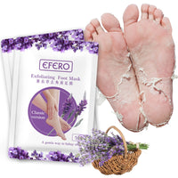 efero 2pc=1pair Baby Feet Exfoliating Foot Mask Skin care Peeling Dead Skin Feet Mask Pedicure Socks Foot Cream for Heels TSLM1 - The most popular products on Tiktok | GOWOW