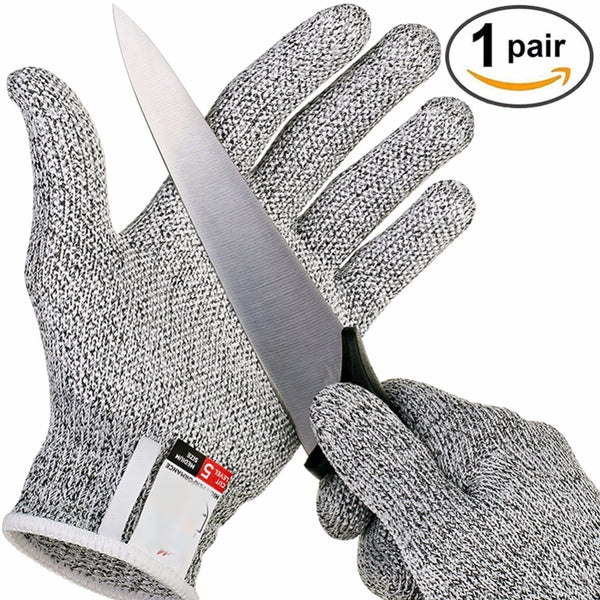 hunting gloves 5 food grade cut-proof gloves outdoor camping protective tools (random color random) Outdoor - The most popular products on Tiktok | GOWOW