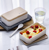 TUUTH Microwave Double Layer Lunch Box 1200ml Wooden Feeling Salad Bento Box BPA Free Portable Container Box Workers Student - The most popular products on Tiktok | GOWOW