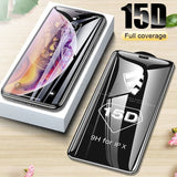 15D Protective Glass on the For iPhone 6 6s 7 8 plus XR X XS glass full cover iPhone 11 Pro Max Screen Protector Tempered Glass - The most popular products on Tiktok | GOWOW