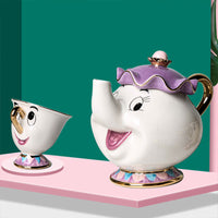 Hot New Cartoon Beauty And The Beast Teapot Mug Mrs Potts Chip Tea Pot Cup 2PCS One Set Lovely Nice Gift Free Shipping - The most popular products on Tiktok | GOWOW
