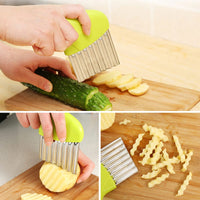 Wave onion potato slices wrinkled french fries salad corrugated cutting chopped potato slicer kitchen gadgets and accessories - The most popular products on Tiktok | GOWOW
