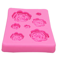M1023 Rose Flowers silicone mold Cake Chocolate Mold wedding Cake Decorating Tools Fondant Sugarcraft Cake Mold - The most popular products on Tiktok | GOWOW