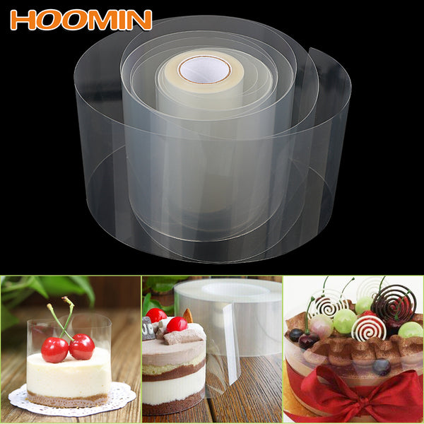 HOOMIN 8cm 10cm Transparent Clear Mousse Surrounding Edge Wrapping Tape Baking Cake Dessert Collar DIY Cake Decorating Tools - The most popular products on Tiktok | GOWOW