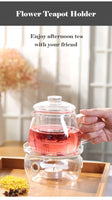 Heating Base Coffee Water Tea Candle Clear Glass Heat-Resisting Teapot Warmer Insulation Base Candle Holder Tea Accessories - The most popular products on Tiktok | GOWOW