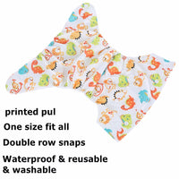[simfamily]1PC Reusable Waterproof digital printed baby Cloth Diaper One Size Pocket baby nappies wholesale price fit for 3-15kg - The most popular products on Tiktok | GOWOW