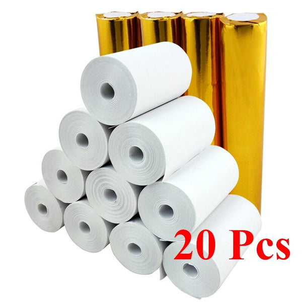 "thermal paper 57 x 30 mm no core BPA free 20 rolls 2 1/4"" x 33' super long mobile bluetooth cash register paper roll - The most popular products on Tiktok 