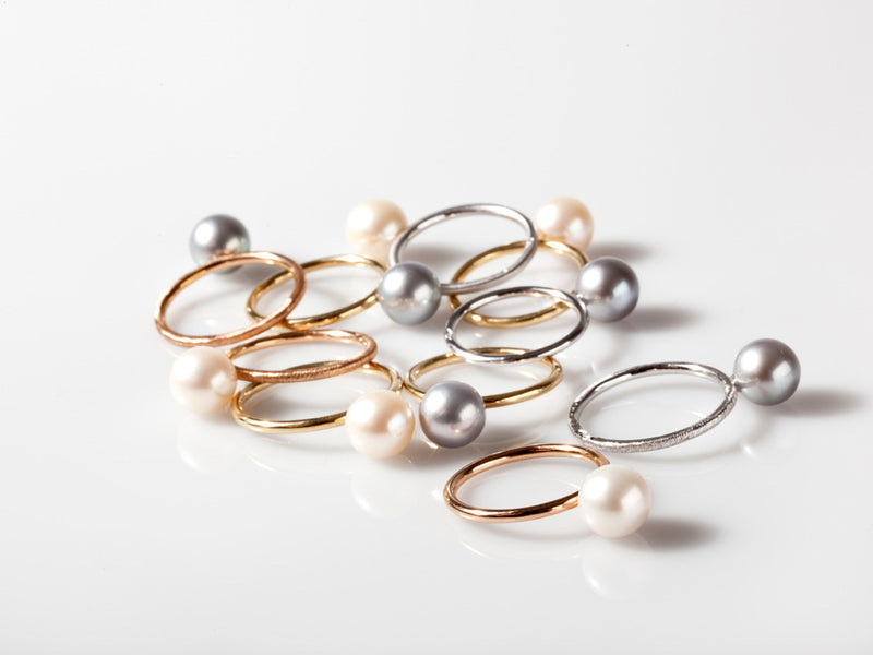 Pearl Ring White Gold