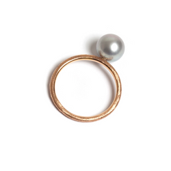 Pearl Ring Rose Gold