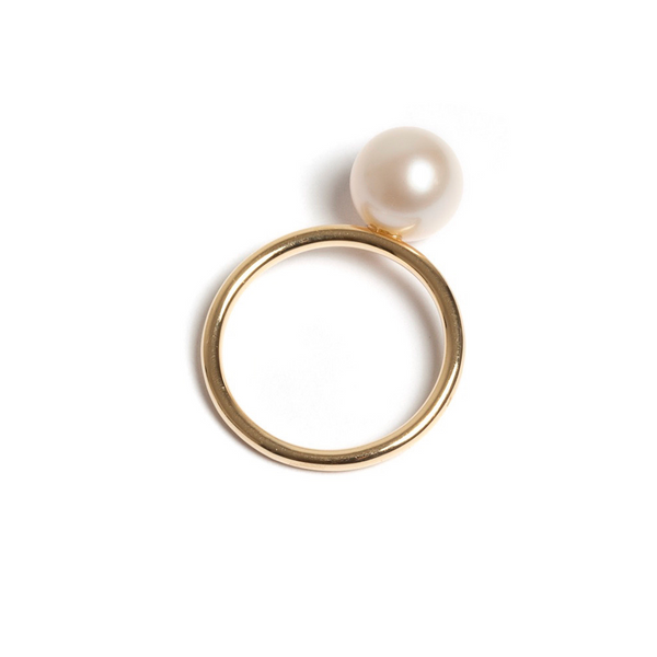 Pearl Ring Yellow Gold