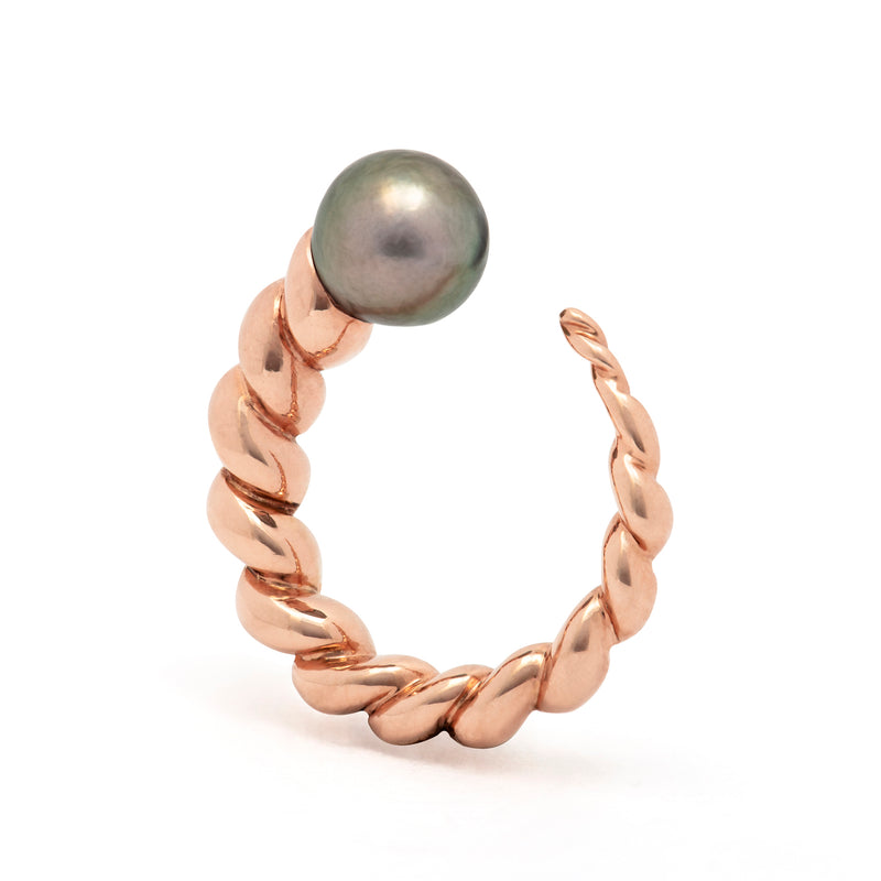 Cornetto Ring Black Pearl