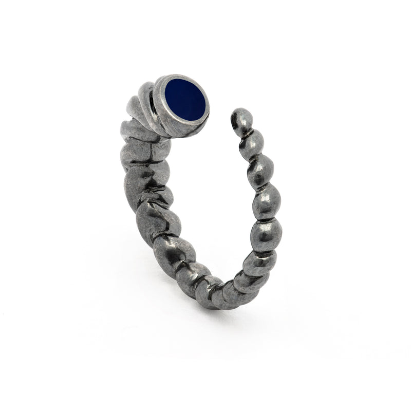 Unicorn blue silver ring