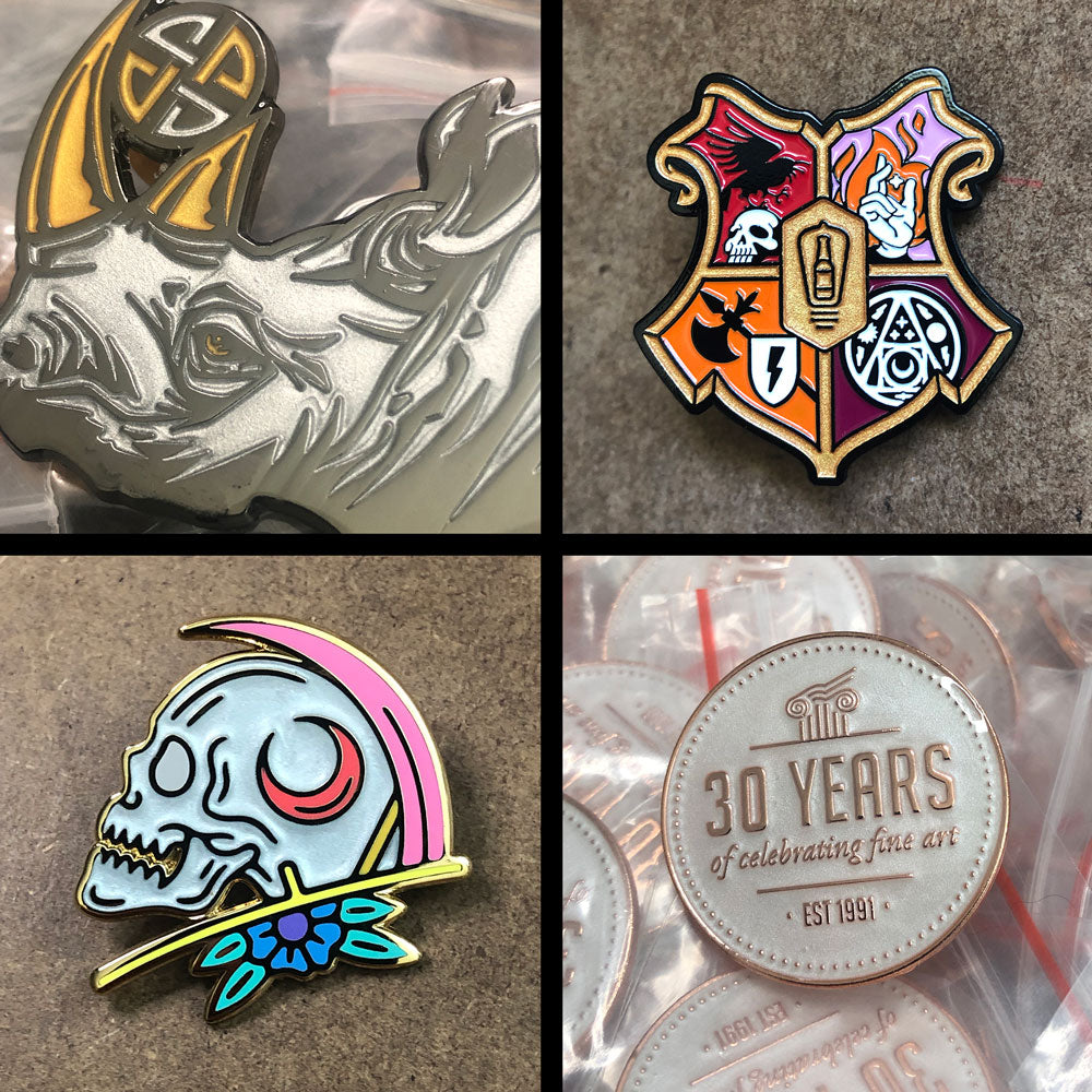 Specialty Inks in Pins - Metallic and Pearl