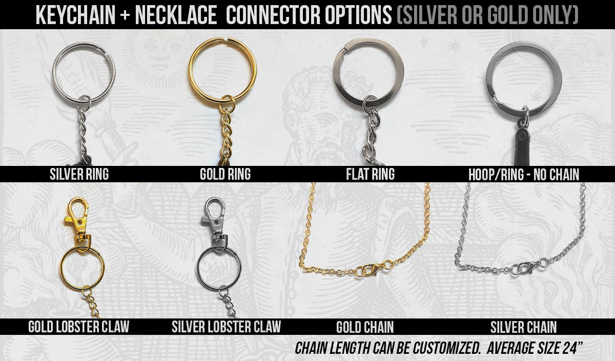 Alchemy Merch - Keychain Attachment Options