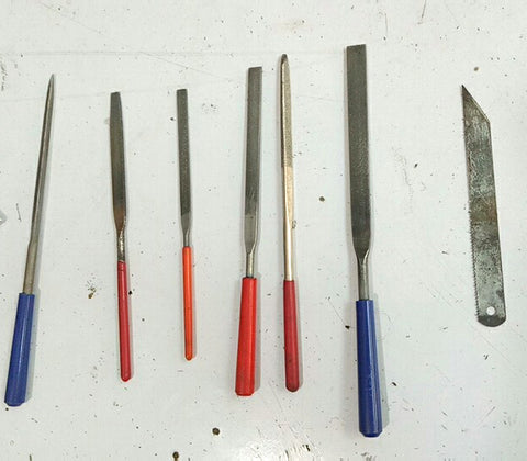 files and cutting tools used in making die-cast enamel pins