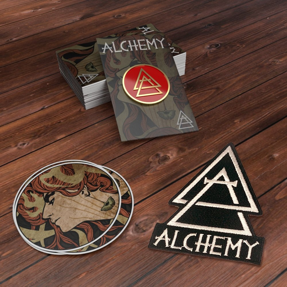 Kind of a Big Deal - Combo Bundle - 200 pins on cards + backstamp + 200 stickers + 100 patches - Alchemy Merch