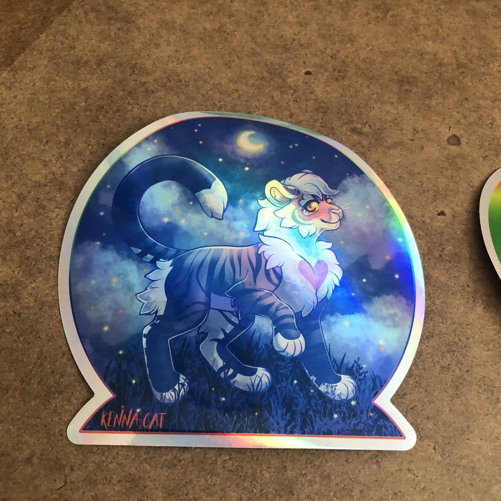 Rainbow Holographic Stickers - Alchemy Merch