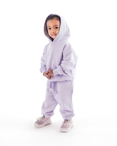 Kids Hooded Sweashirt Sweatpants lilac lavendel