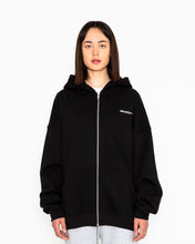 Load image into Gallery viewer, UNISEX 90'S HOODIE ZIPPER JACKET - KAPUZENJACKE BLACK