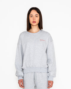 WOMAN SWEATER NO 2 GREY MELANGE