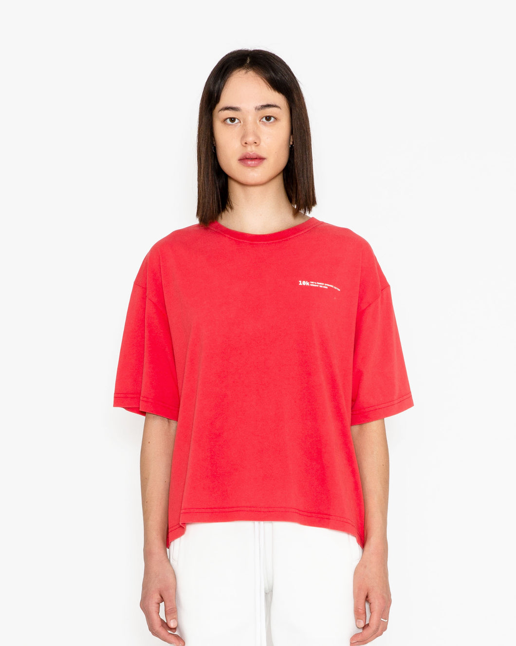 WOMAN T-SHIRT OVERSIZED RED VINTAGE