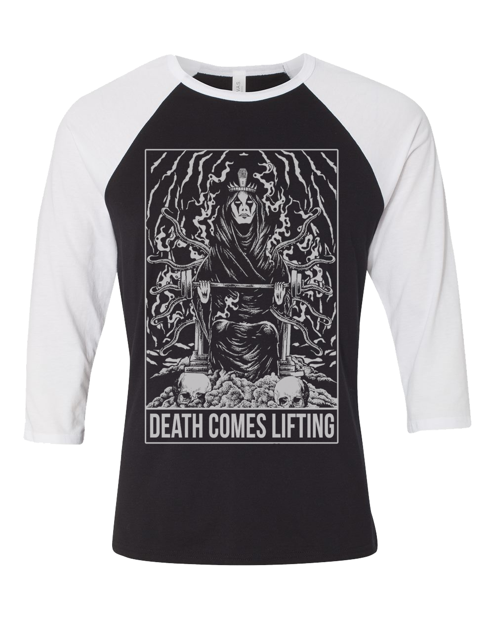 Queen of Death Tarot Baseball Tee