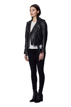 Load image into Gallery viewer, TAYLOR LEATHER JACKET BLACK