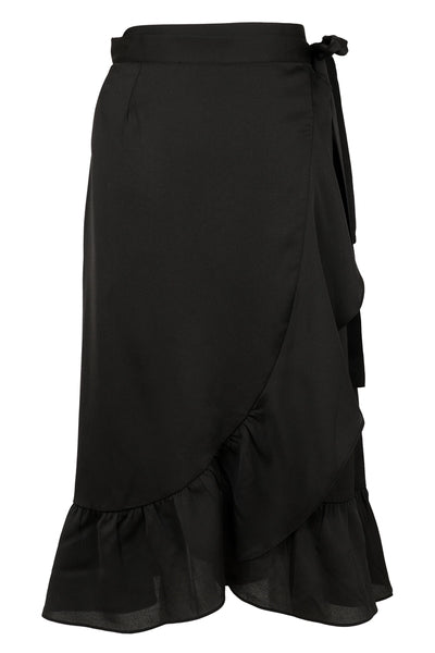 NEO NOIR BLACK MIKA WRAP SKIRT