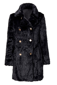 MONICA FAUX FUR BLACK