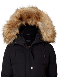 SNOW BIRD BLACK/NATURE FAUX FUR