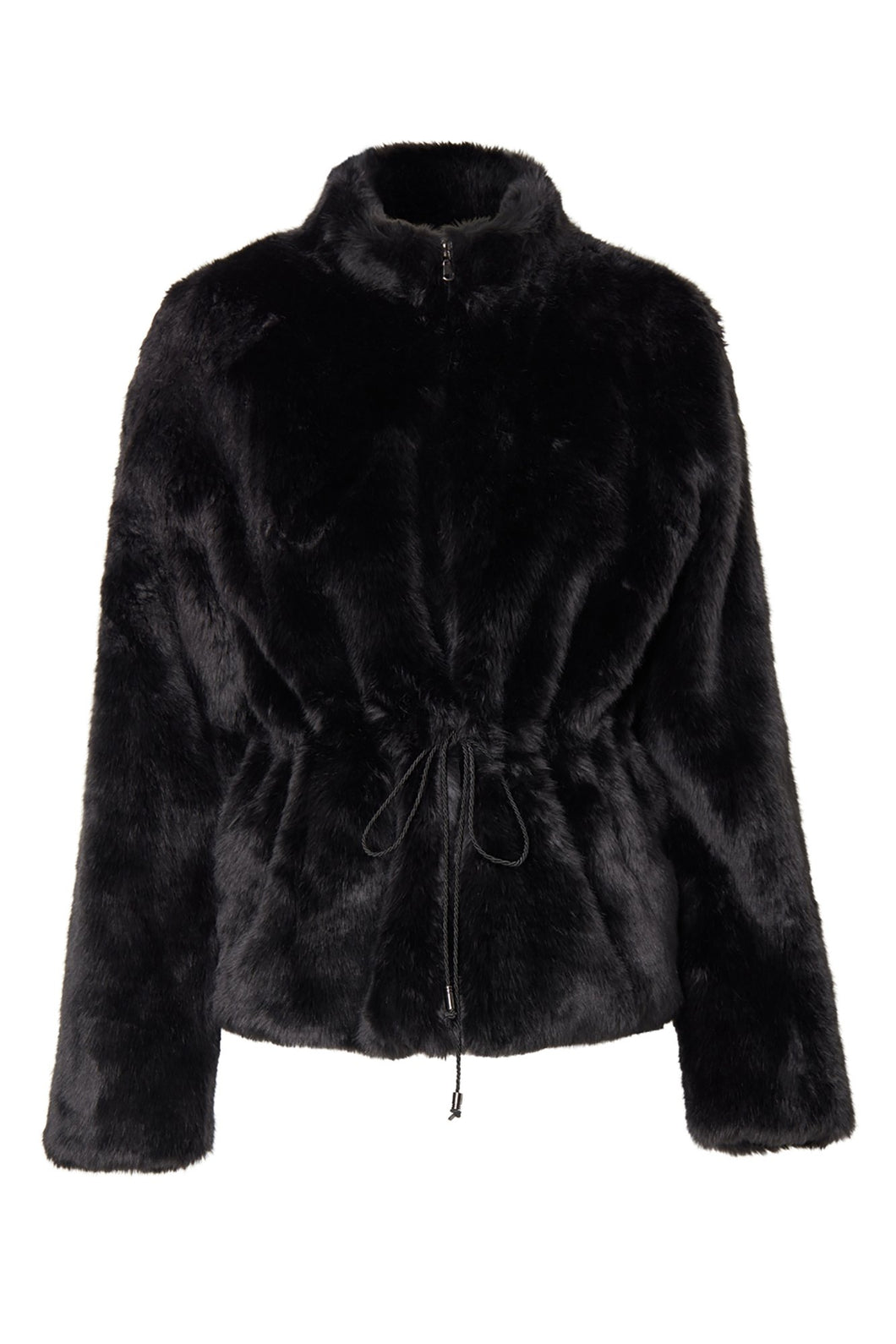 REGINA FAUX FUR BLACK
