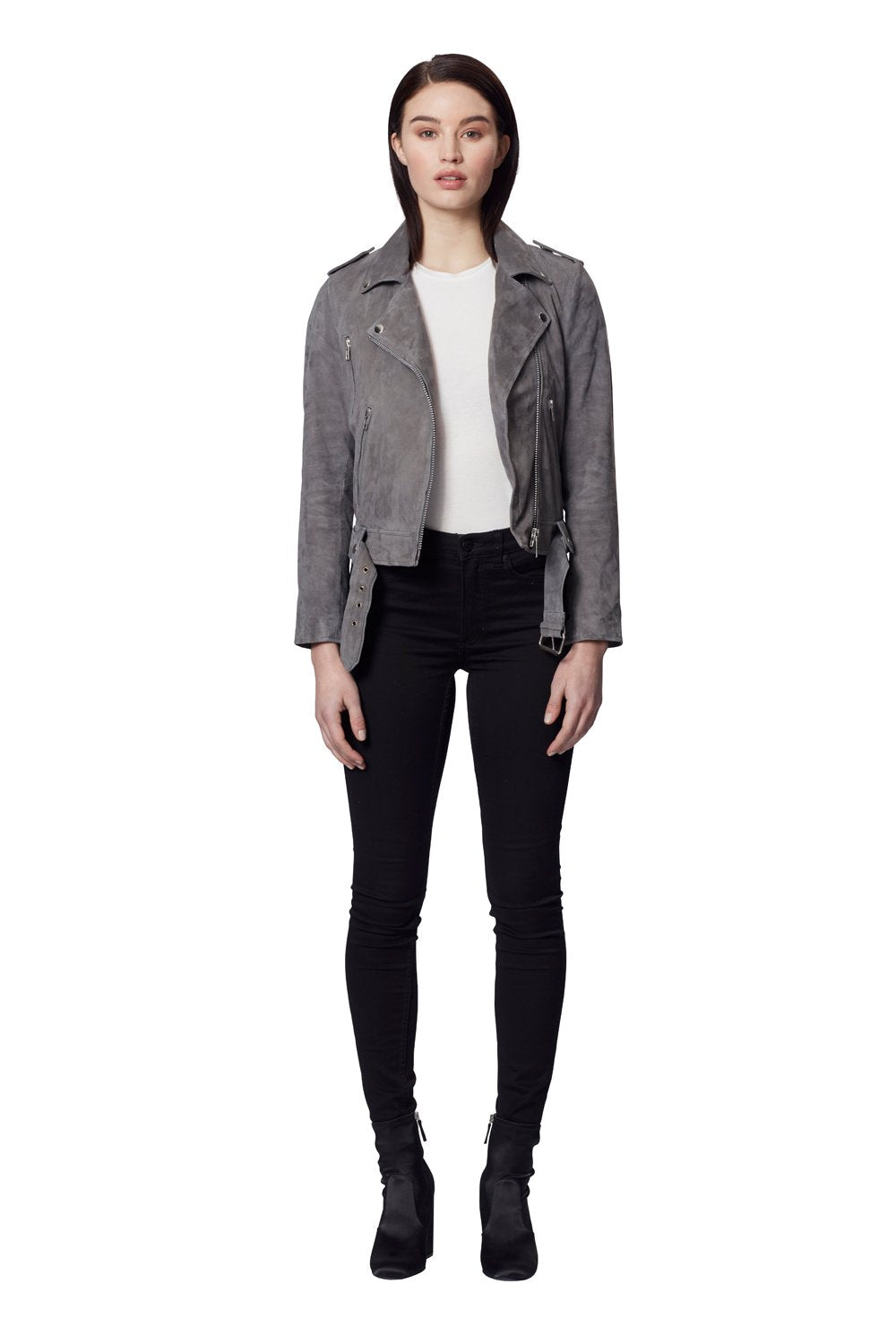 TAYLOR SUEDE JACKET GREY
