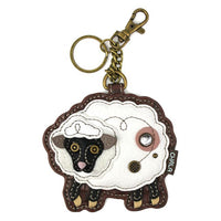 CHALA Sheep Key Fob, Coin Purse, Purse Charm - Enchanted Memories, Custom Engraving & Unique Gifts