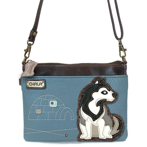 CHALA Mini Crossbody Husky Dog - Enchanted Memories, Custom Engraving & Unique Gifts