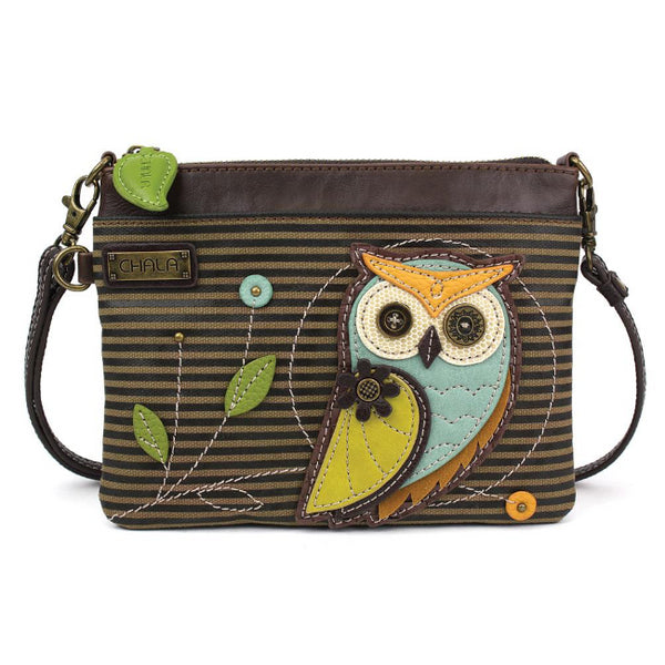 CHALA Mini Crossbody Owl Striped - Enchanted Memories, Custom Engraving & Unique Gifts