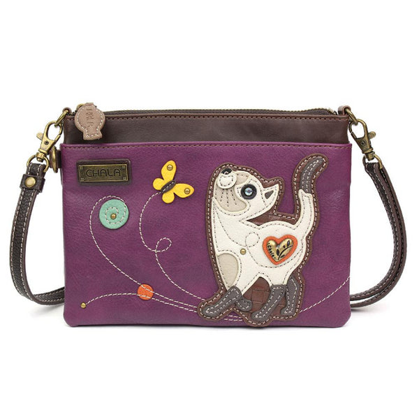 CHALA Mini Crossbody Siamese Cat - Enchanted Memories, Custom Engraving & Unique Gifts